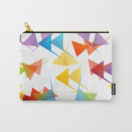 Fractal triangles with unfolding colors Carry-All Pouch