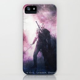 Geralt of Witcher Wild Hunt iPhone Case