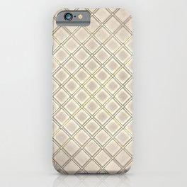 Embossed Tileset (Beige) iPhone Case