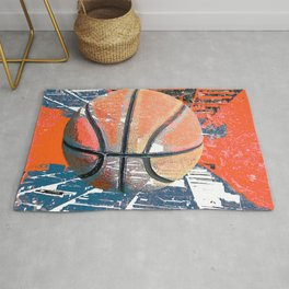 Basketball art city 4 Rug