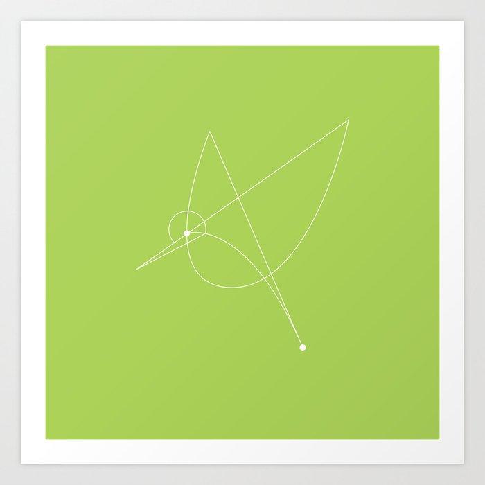 Contours: Hummingbird (Line) Art Print