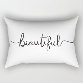 Modern and Elegant Hand Drawn Beautiful Rectangular Pillow