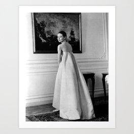 Audrey Vintage Art Print