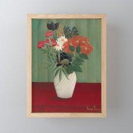 Bouquet of Flowers, Henri Rousseau, 1910 Framed Mini Art Print