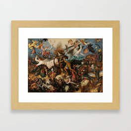 Pieter Bruegel the Elder The Fall of the Rebel Angels Framed Art Print