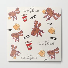 coffee addicted Metal Print