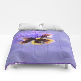 Lavender Pansy Comforters