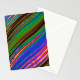 Philadelphia Gay Pride Rippling Satin Texture Stationery Cards