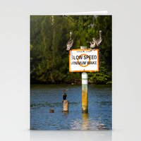 manatee Stationery Cards featuring Manatee Zone by Roger Wedegis