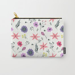Abstract coral purple violet vector floral pattern Carry-All Pouch