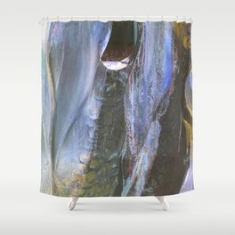 Cold Stone Heart Shower Curtain