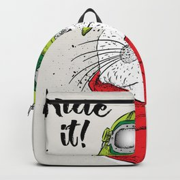 cat ride it Backpack