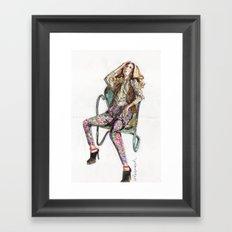 Floral Fashion Framed Art Print
