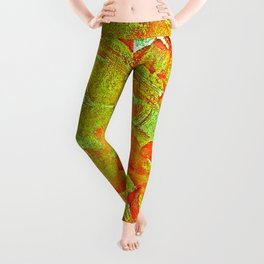 Bloody-Nature Abstract Leggings