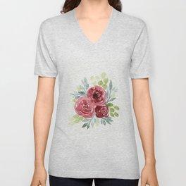 camellia flower bouquet Unisex V-Neck