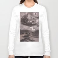 dick Long Sleeve T-shirts featuring Moby Dick by Melisa Keyes
