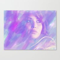 jennifer lawrence Canvas Prints featuring Jennifer Lawrence by Maria Renee