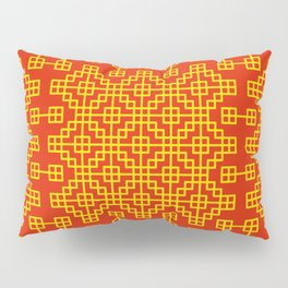 Chinese grid pattern in traditional colors Pillow Sham