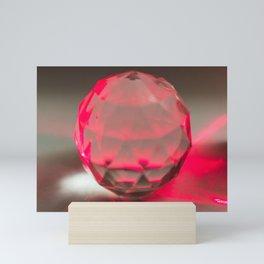 Red Laser Through Crystal Mini Art Print