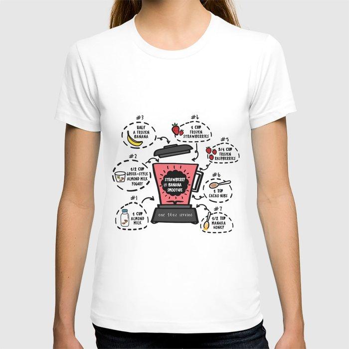 Strawberry and Banana Smoothie Recipe T-shirt