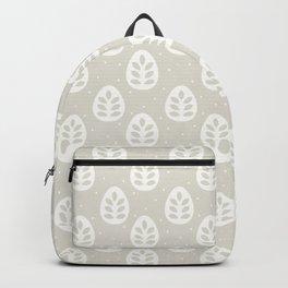 Abstract blush gray white polka dots leaves illustration Backpack