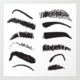 Sketchy Eyebrows Art Print