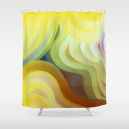 Colorful Curves Shower Curtain