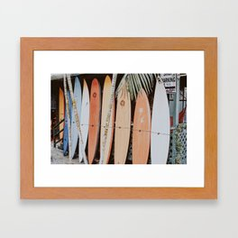 lets surf ii Framed Art Print