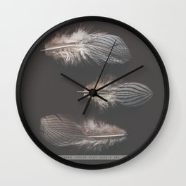 feathers appear when angels are near Wall Clock