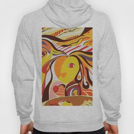 Cubism Picasso Colourful Bright Abstract Realism Figurative Portrait Conceptual Hoody