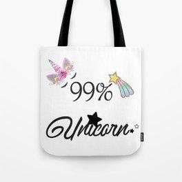 99% Unicorn Tote Bag