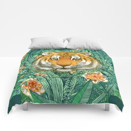 Tiger Tangle in Color Comforters