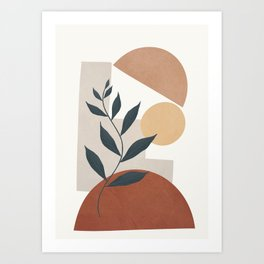 Shapes and Branches 03 Art Print