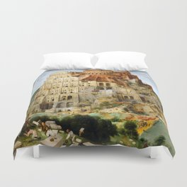 The Tower Of Babel Duvet Cover