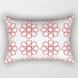 Luxury Geometric red on white. Original arabic design Rectangular Pillow