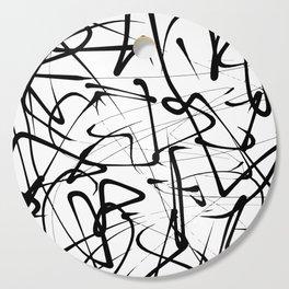 Sensual Impressionism Black And White Brush Art Cutting Board