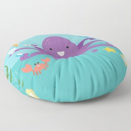 Under the Sea Octopus and Friends Floor Pillow