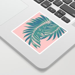 Palm Leaves Blush Summer Vibes #4 #tropical #decor #art #society6 Sticker