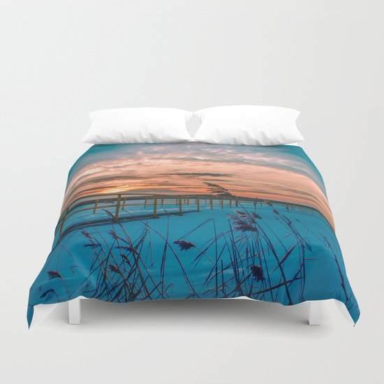 Waiting for the Summer Duvet Cover