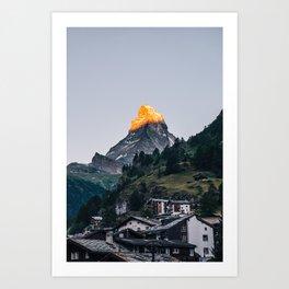 Beautiful Matterhorn in Sunrise Art Print