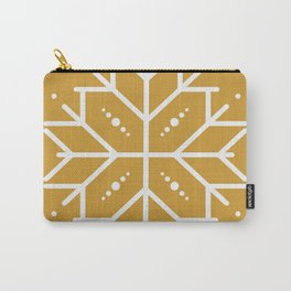 Snowflake - Gold Carry-All Pouch