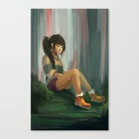 chihiro Canvas Prints featuring Realistic Chihiro by Jessica Smith