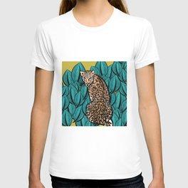 Jungle Cat | Leaves T-shirt