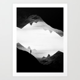 black wasteland isolation Art Print