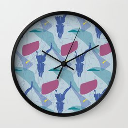 Pattern impala skull Wall Clock