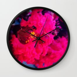 Pretty in Pink Crape Myrtle Wall Clock