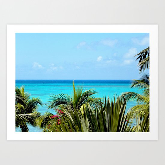 Wild Exotic Blue Paradise -Indian Ocean Seascape Art Print