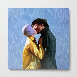 Singin' in the Rain - Blue Metal Print