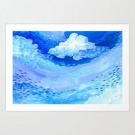 Gulf Stream Blues Art Print