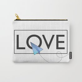 Love airplane blue Carry-All Pouch